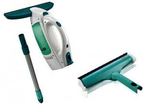 Leifheit Dry&Cean: zestaw: myjka + ściągaczka elektryczna + drążek 43 cm | 51001/51320