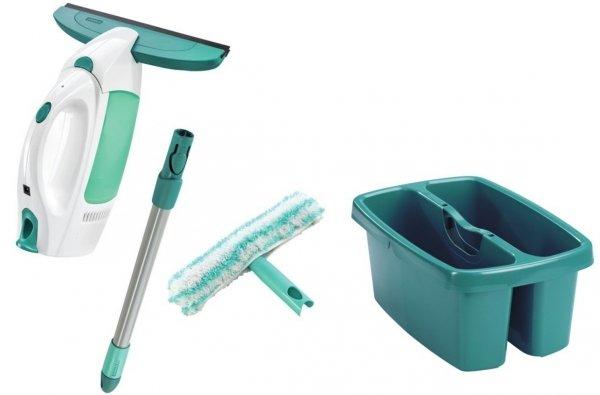 Myjka Leifheit 51003 Wet & Dry + myjka ręczna dwustronna + drążek 42 cm + wiadro dwukomorowe