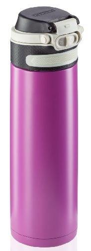 Bidon termiczny Leifheit FLIP 3274 stalowy 600ml RÓŻOWY | Kubek termiczny