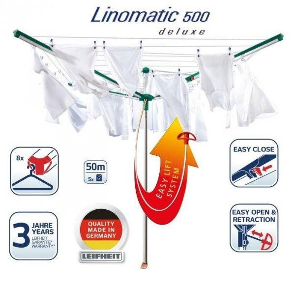 Suszarka ogrodowa Leifheit 82001 Linomatic 500 Deluxe