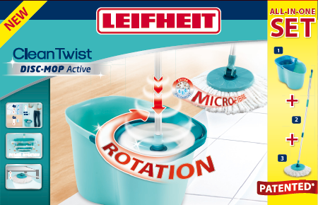 Zestaw Leifheit 56793 Clean Twist Active