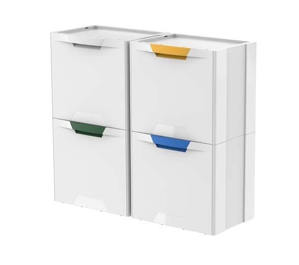 Pojemnik Do Segregacji śmieci Kosz Ecocubes Meliconi Biały