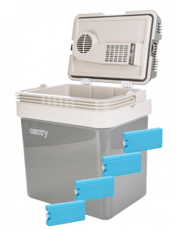 Lodówka turystyczna Camry 24 litry + wkłady chłodzące 180ml | CR8065/4xW180ML