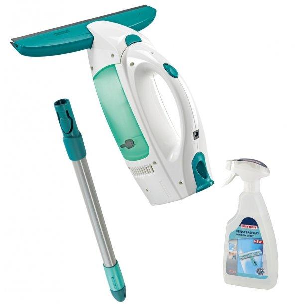 Odkurzacz do szyb Leifheit Dry & Clean + drążek 43 cm + płyn do mycia szyb | 51001/41409