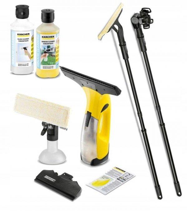 Kärcher ZESTAW myjka do okien Karcher WV2 Plus N + 2 lance z padem + 2x 500ml koncentrat do mycia szyb