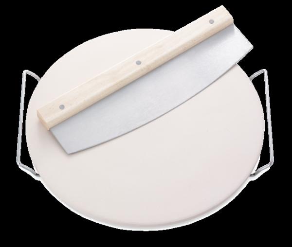 Ceramiczna podstawka do pizzy Leifheit z nożem (Symbol: 3159)