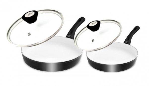 Patelnia Gerlach NK 325 Harmony Classic 24/28 cm (Ceramiczna) + Pokrywy Gerlach 399