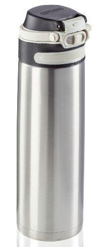 Bidon termiczny Leifheit FLIP 3272 stalowy 600ml SILVER | Kubek termiczny