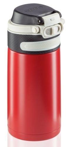 Bidon termiczny Leifheit FLIP 3245 stalowy 350ml CZERWONY | Kubek termiczny