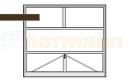 Brama uchylna N 80, 2500 x 2125, Wzór 905 do wypełnienia