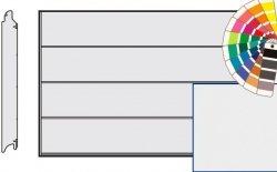 Brama LPU 42, 4250 x 2000 Przetłoczenia L, Silkgrain, kolor do wyboru