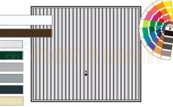 Brama uchylna N 80, 2375 x 2125, Wzór 902, kolor do wyboru