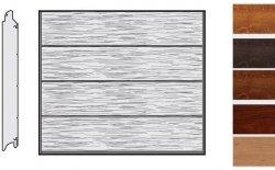 Brama LPU 42, 2315 x 2205, Przetłoczenia L, Decograin, okleina drewnopodobna