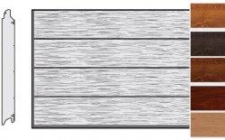 Brama LPU 42, 3250 x 2000, Przetłoczenia L, Decograin, okleina drewnopodobna