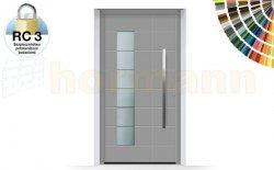 Drzwi aluminiowe ThermoSafe, Wzór 867, kolor do wyboru, przeciwwłamaniowe RC 3