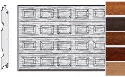 Brama LPU 42, 3000 x 3000, Kasetony S, Decograin, okleina drewnopodobna