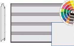 Brama LPU 42, 4000 x 2000 Przetłoczenia T, Silkgrain, kolor do wyboru
