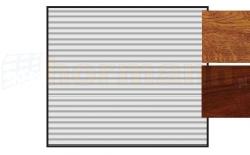 Brama RollMatic z napędem, Decograin, okleina Golden Oak (złoty dąb) lub Rosewood (machoń)