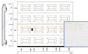 WYPRZEDAŻ: Brama segmentowa EcoStar, 2500 x 2000 mm, kasetony S, powierzchnia Woodgrain, kolor biały RAL 9016, NOWA, pełnowartościowa, fabrycznie zapakowana
