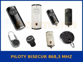 piloty BiSecur 868,3 MHz
