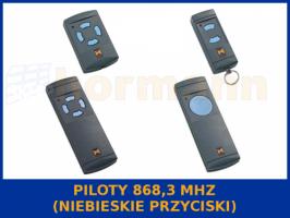 piloty 868,3 MHz (niebieskie przyciski)