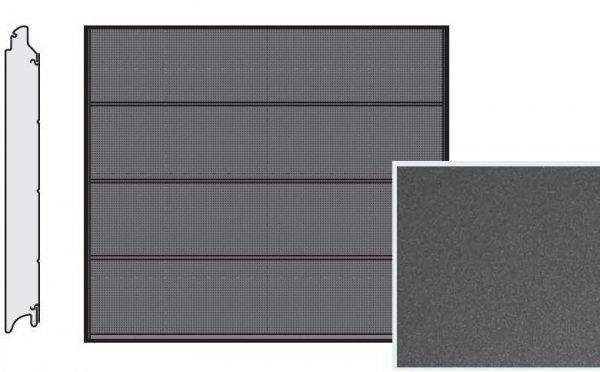 Brama LPU 42, 2315 x 1955, Przetłoczenia L, Decograin, Titan Metallic CH 703