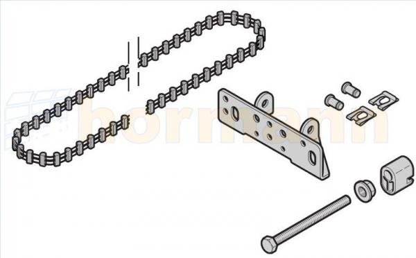 Pas zębaty do prowadnicy (szyny) FS10 / FS2, krótka, do SupraMatic E/P, ProMatic / P / Akku (następca artykułu o numerze 438100)