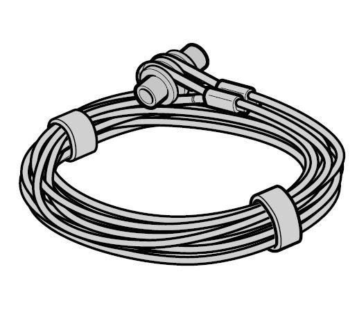 Lina stalowa Ø 3 mm z mocowaniem, prowadzenie Z, komplet do każdej bramy, L = 2865, wysokość bramy do 2375