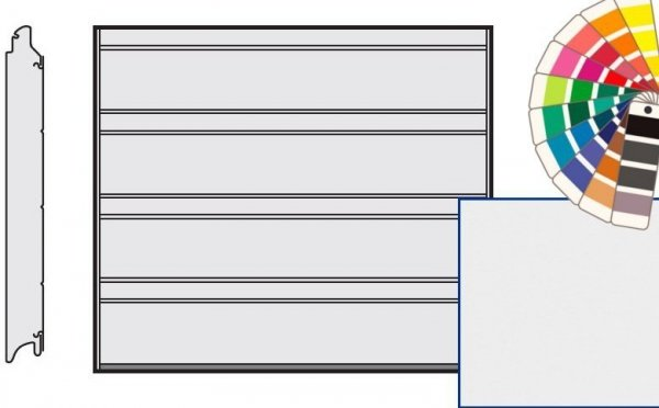 Brama LPU 42, 2315 x 2080, Przetłoczenia D, Silkgrain, kolor do wyboru