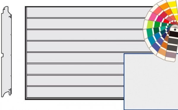 Brama LPU 42, 5000 x 2250, Przetłoczenia M, Silkgrain, kolor do wyboru
