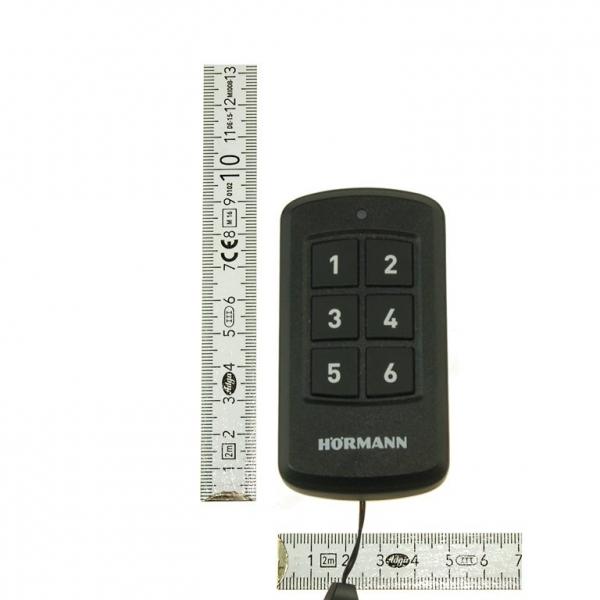 Nadajnik pilot przemysłowy Hormann HSI 6 BS BiSecur 868 MHz do sterowania max 6 odbiornikami, łącznie z baterią
