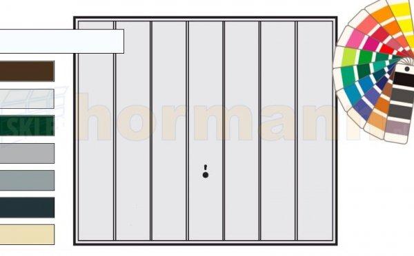 Brama uchylna N 80, 2375 x 2125, Wzór 984, kolor do wyboru