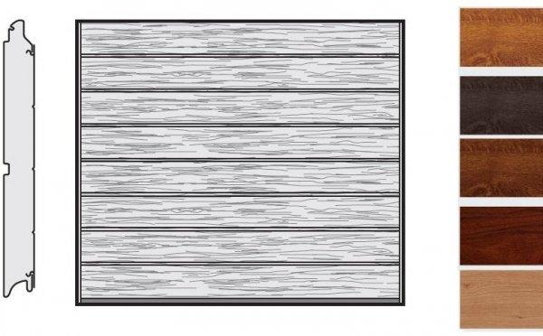 Brama LPU 42, 2375 x 2125, Przetłoczenia M, Decograin, okleina drewnopodobna