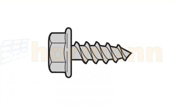 Blachowkręt z łbem sześciokątnym A 6,5 × 16, geomet