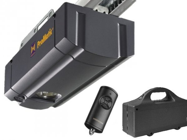 ZESTAW: napęd ProMatic Akku seria 2 (zasilany z baterii, siła 400 N, do 8 m2)  + szyna FS 10 + pilot HS 4 BS