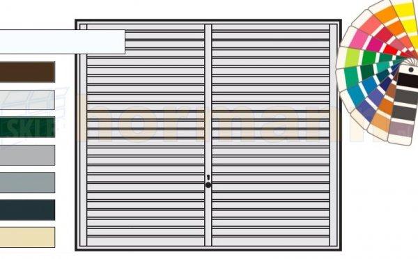 Brama uchylna N 80, 2500 x 2125, Wzór 957, kolor do wyboru