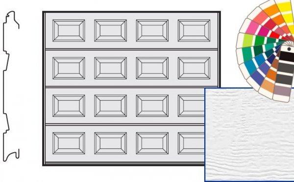 Brama LTE, 2375 x 2125, Kasetony S, Woodgrain, kolor do wyboru