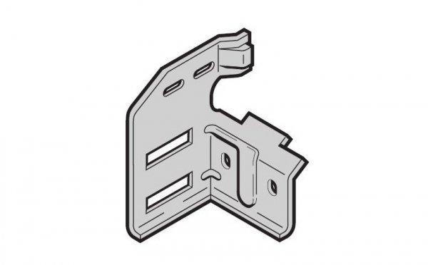 Wspornik rolki górny typ 4 do bramy z drzwiami przejściowymi, wersja lewa