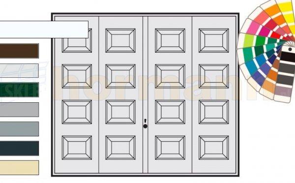 Brama uchylna N 80, 2375 x 2125, Wzór 973, kolor do wyboru