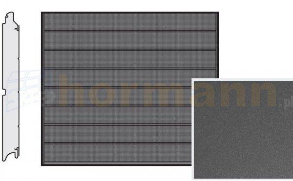 Brama LPU 42, 2315 x 1955, Przetłoczenia M, Decograin, Titan Metallic CH 703