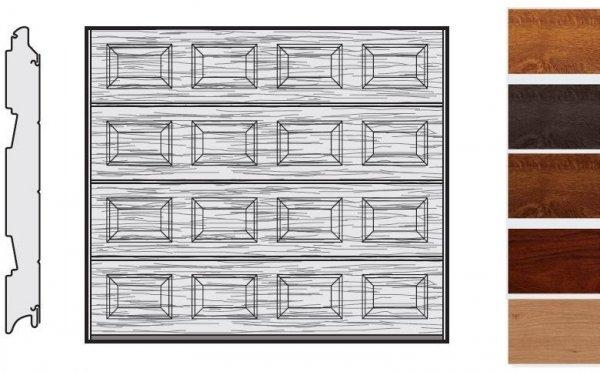 Brama LPU 42, 2375 x 2125, Kasetony S, Decograin, okleina drewnopodobna