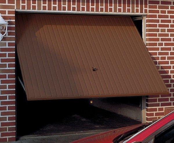 Brama uchylna N 80, 2375 x 2000, Wzór 904 Okrągłe profile Ø 12 mm, Odstęp 100 mm, kolor do wyboru