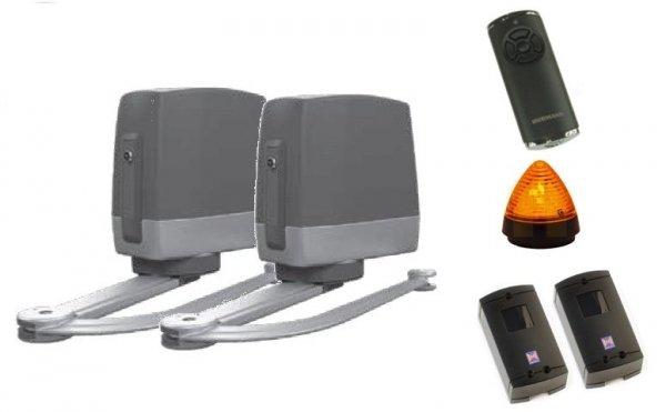 ZESTAW: napęd VersaMatic 2 SK BiSecur (skrzydło do 2000 mm, do 200 kg) + pilot HS 5 BS (z funkcją sprawdzania statusu bramy) + para fotokomórek EL 301 + lampka LED SLK