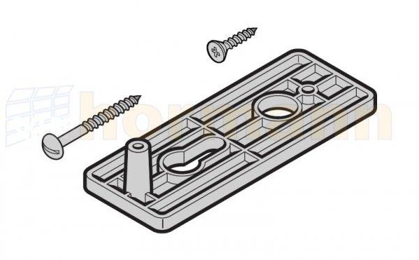 Szyld do uchwytu N 80 / F 80 / brama z drzwiami bocznymi