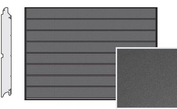 Brama LPU 42, 5000 x 2250, Przetłoczenia M, Decograin, Titan Metallic CH 703