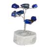 Drzewko szczęścia. 8 kamieni szlachetnych, różne rodzaje. Średnica 4 cm wys. 6 cm.