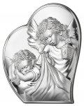 Obrazek Aniołek w sercu z modlitwą 9x10,7 cm