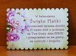 Kartka okolicznościowa drewniana drukowana Święto Matki 15x10x0,3cm