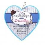 Drewniana tabliczka w kształcie serca Dla Najlepszego Dziadka