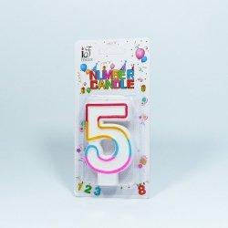 Świeczka urodzinowa '5 '
